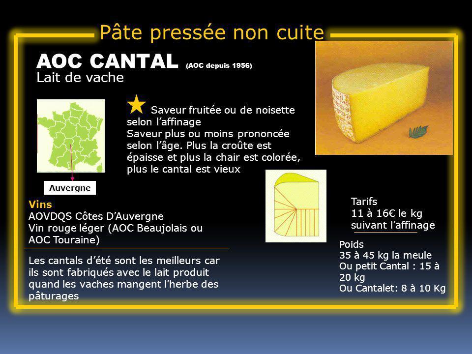 AOC CANTAL (AOC depuis 1956)
