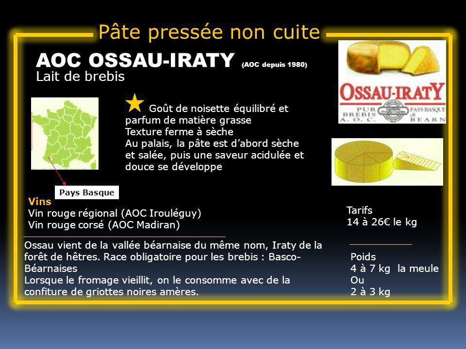 AOC OSSAU-IRATY (AOC depuis 1980)