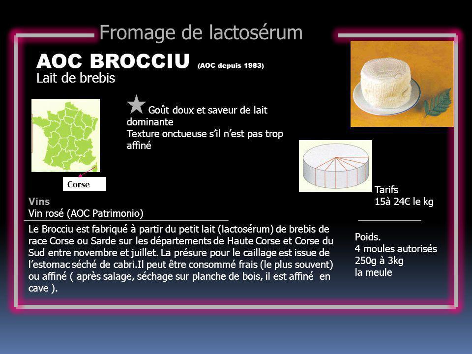 AOC BROCCIU (AOC depuis 1983)