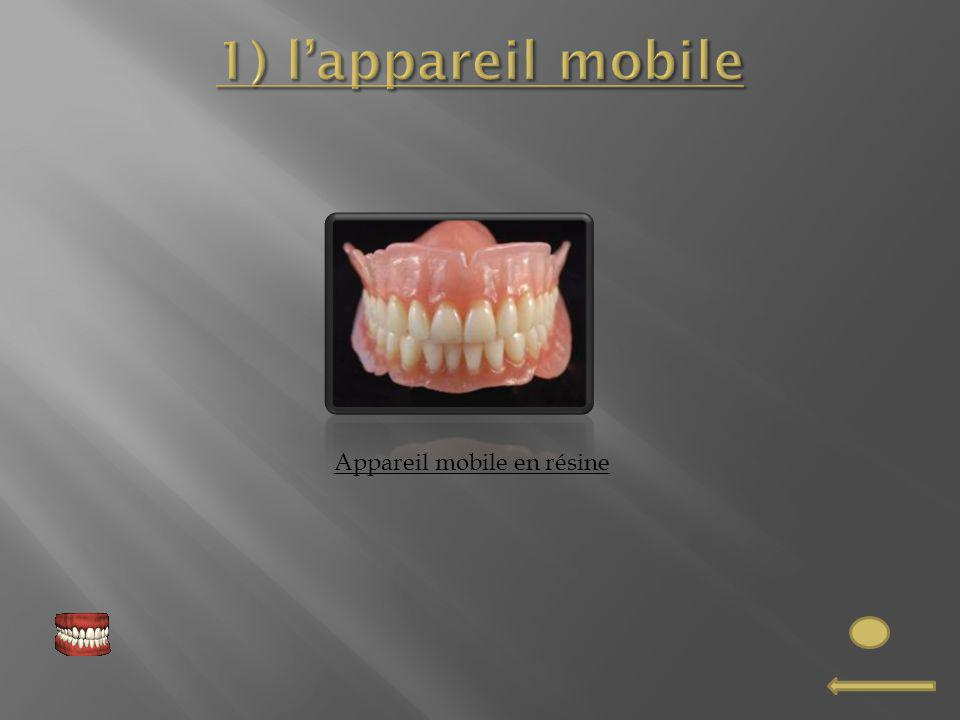 Appareil mobile en résine