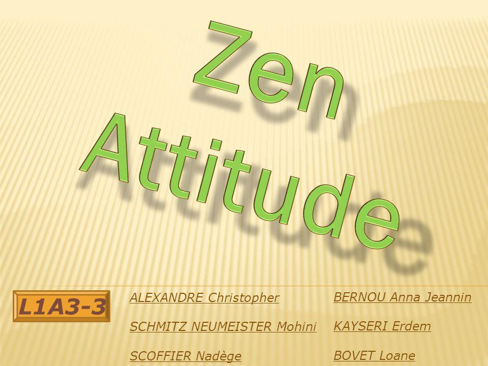 Zen Attitude L1A3-3 ALEXANDRE Christopher BERNOU Anna Jeannin
