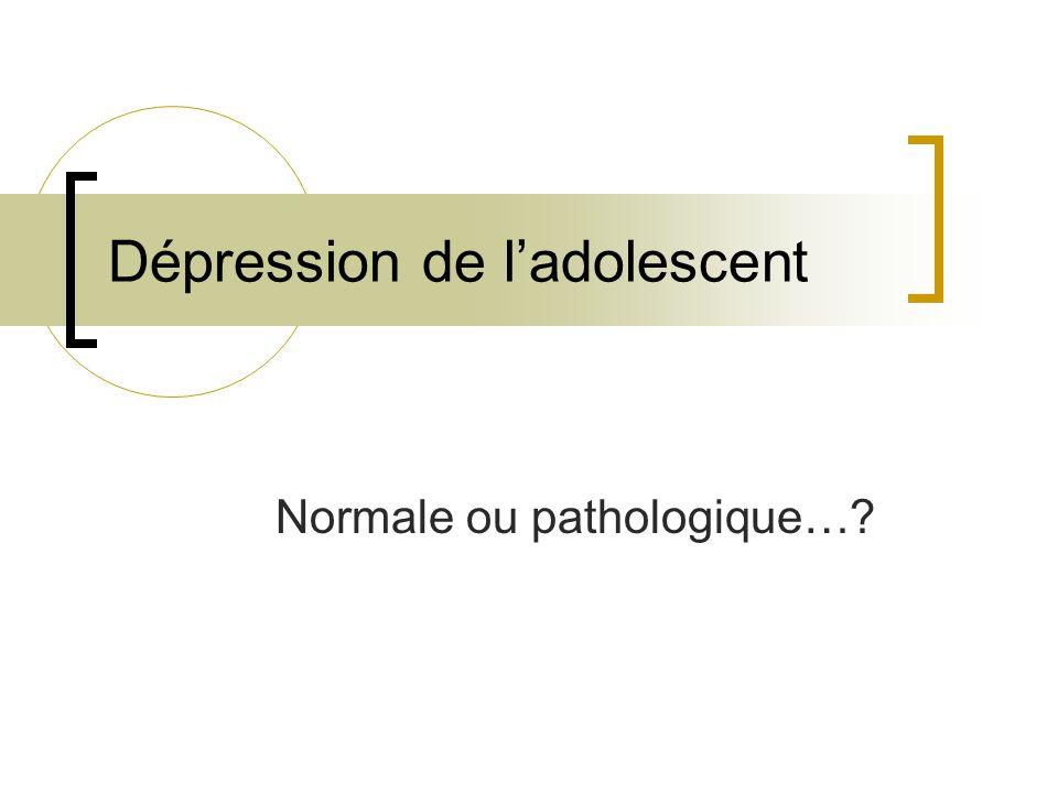 Dépression de l'adolescent