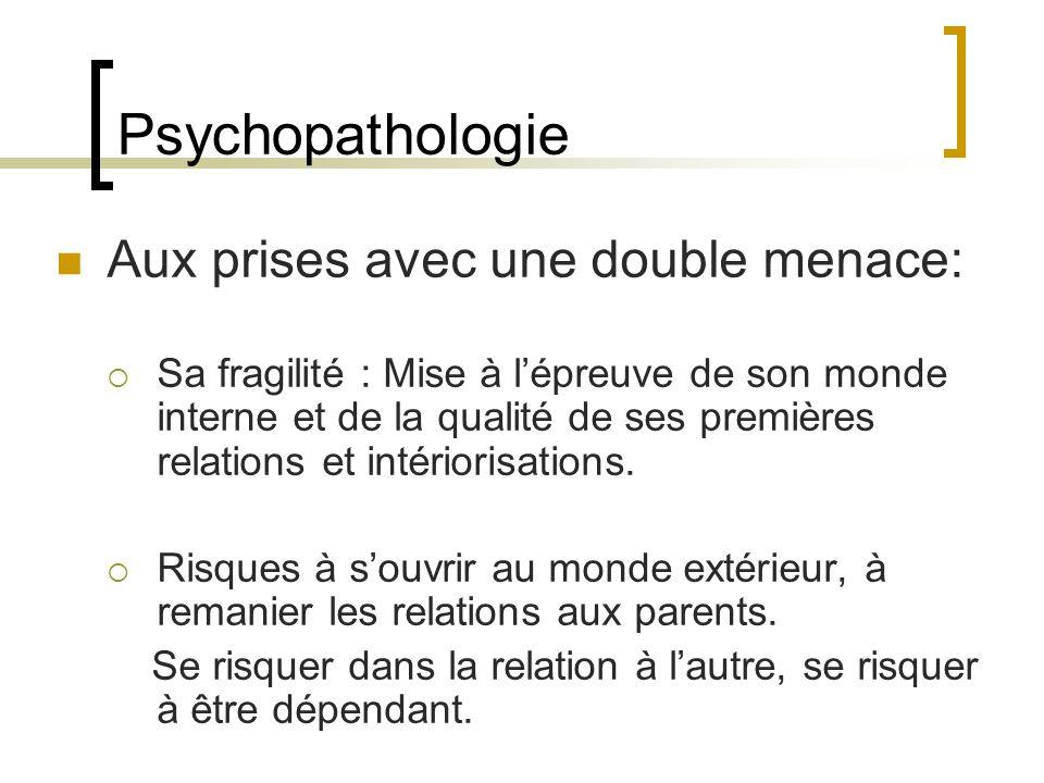 Psychopathologie Aux prises avec une double menace: