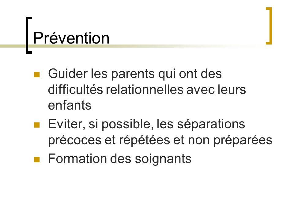 Prévention Guider les parents qui ont des difficultés relationnelles avec leurs enfants.