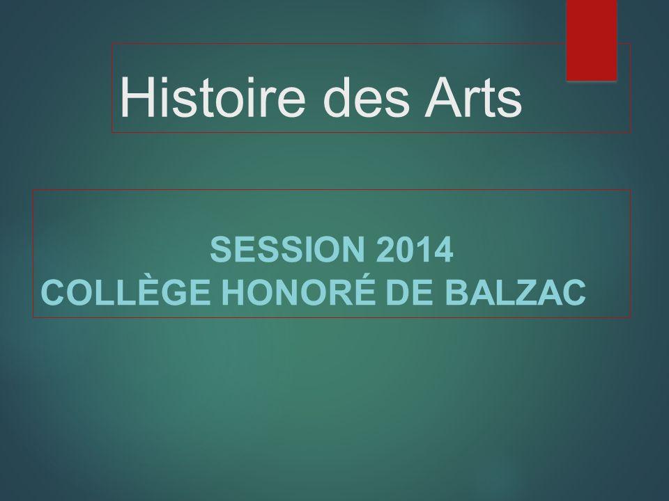 SESSION 2014 COLLÈGE HONORÉ DE BALZAC