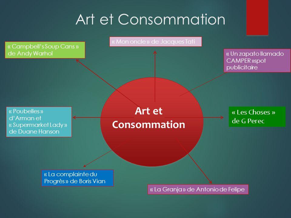 Art et Consommation Art et Consommation « Les Choses » de G Perec