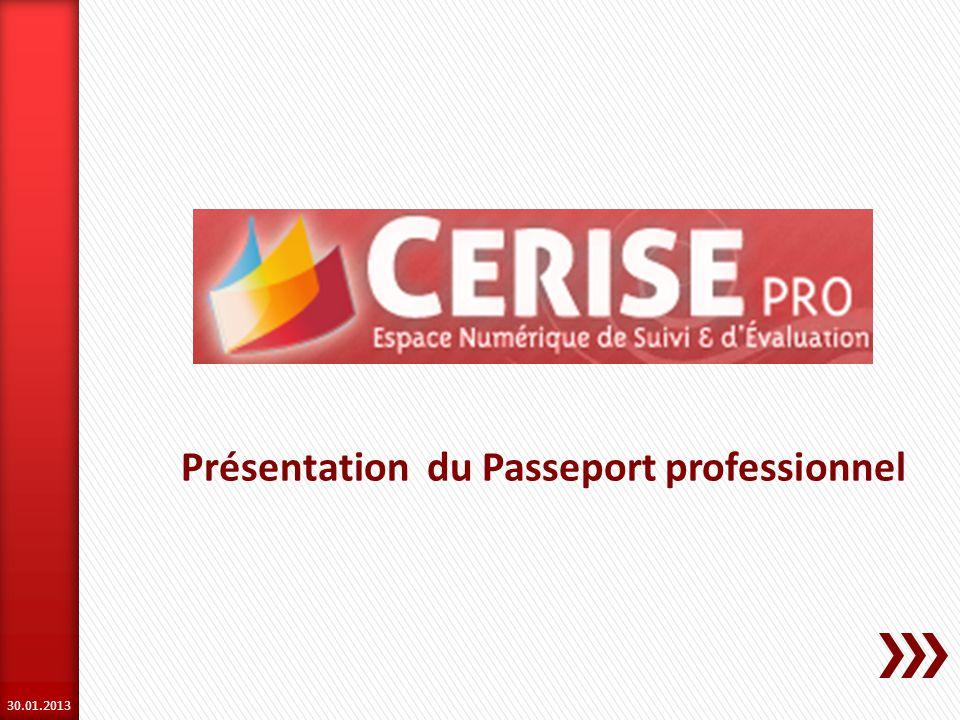 Présentation du Passeport professionnel