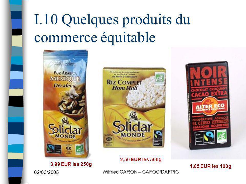 I.10 Quelques produits du commerce équitable