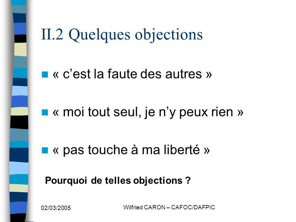 II.2 Quelques objections