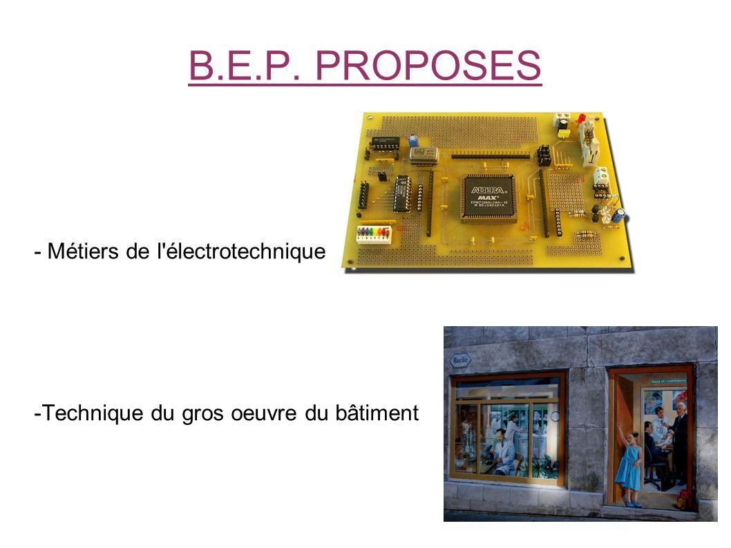 - Métiers de l électrotechnique -Technique du gros oeuvre du bâtiment