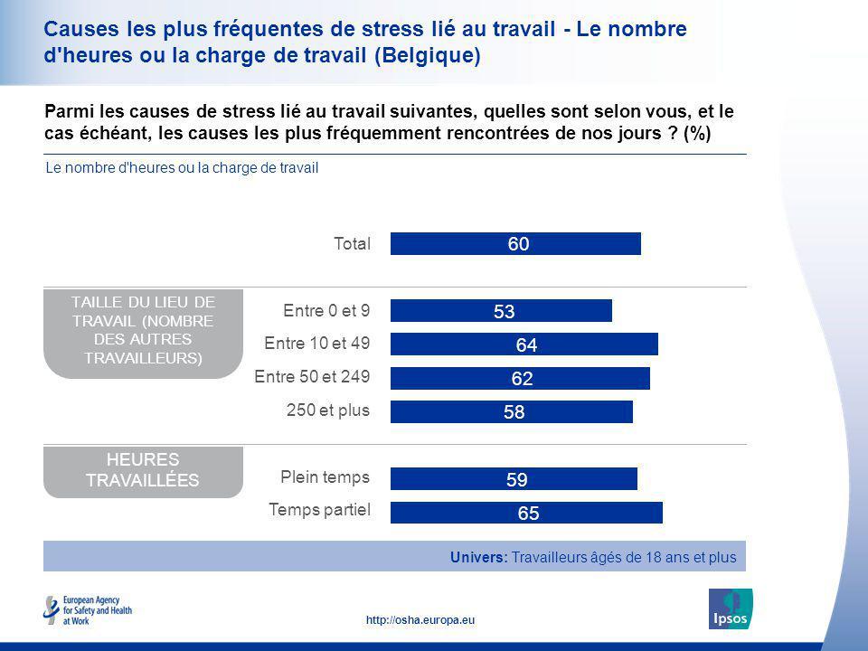 TAILLE DU LIEU DE TRAVAIL (NOMBRE DES AUTRES TRAVAILLEURS)