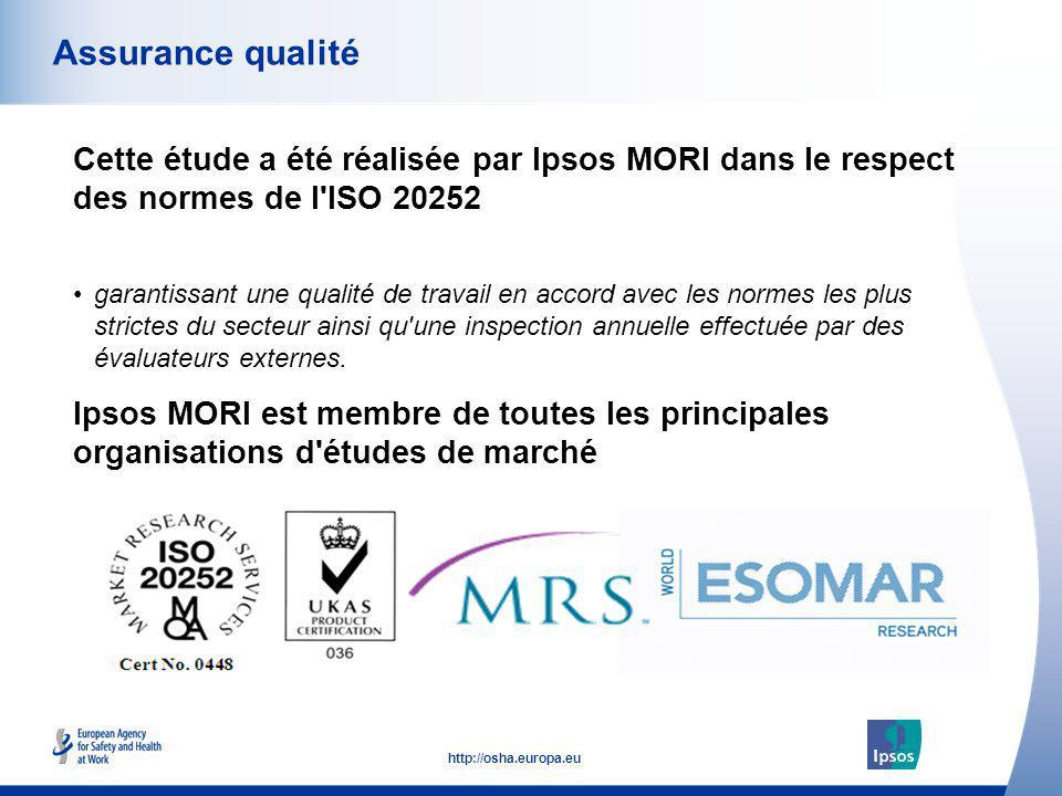 Assurance qualité Cette étude a été réalisée par Ipsos MORI dans le respect des normes de l ISO 20252.