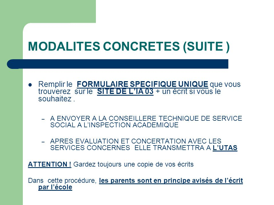 MODALITES CONCRETES (SUITE )