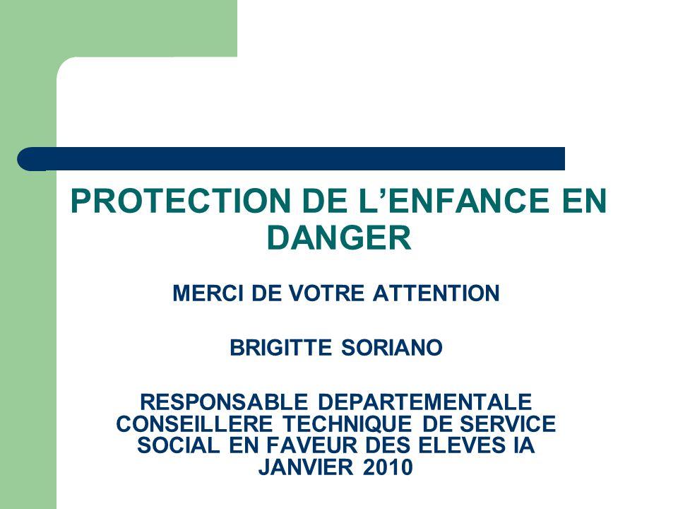 PROTECTION DE L'ENFANCE EN DANGER