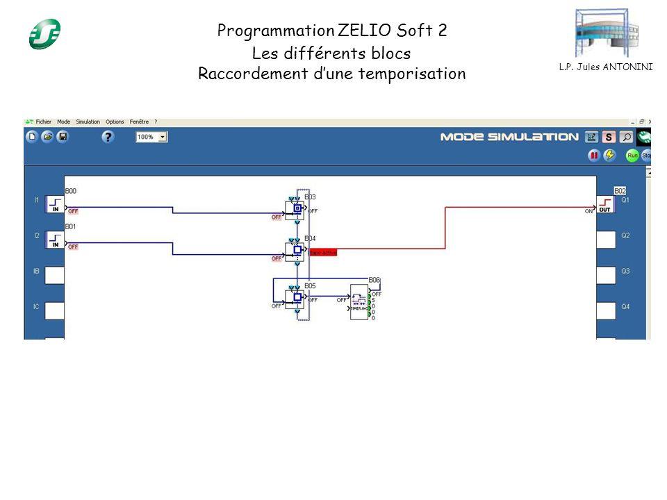 Programmation ZELIO Soft 2 Les différents blocs