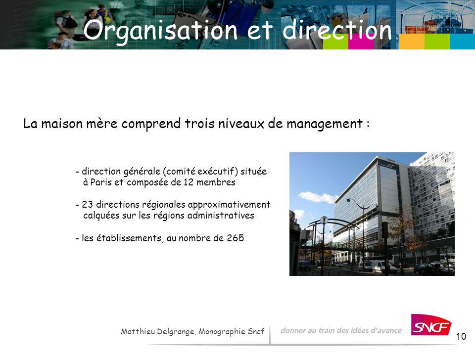 Organisation et direction