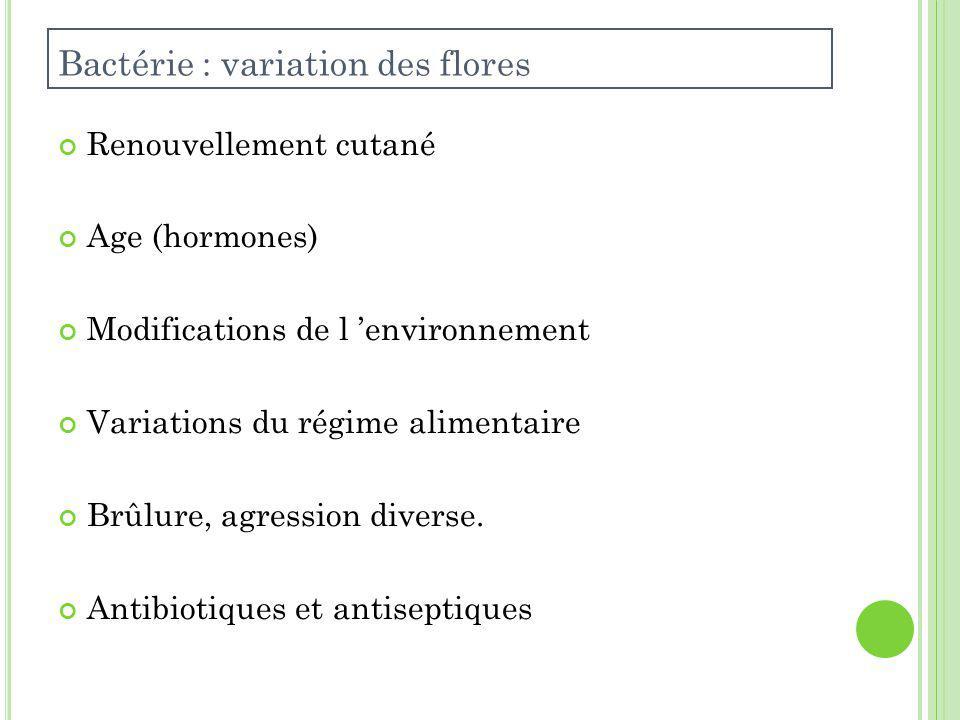 Bactérie : variation des flores