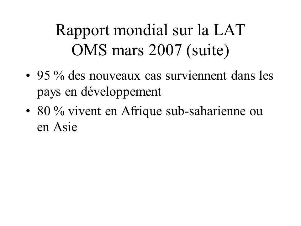 Rapport mondial sur la LAT OMS mars 2007 (suite)