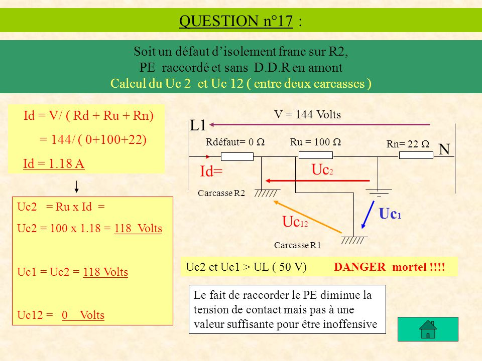 QUESTION n°17 : L1 N Uc2 Id= Uc1 Uc12