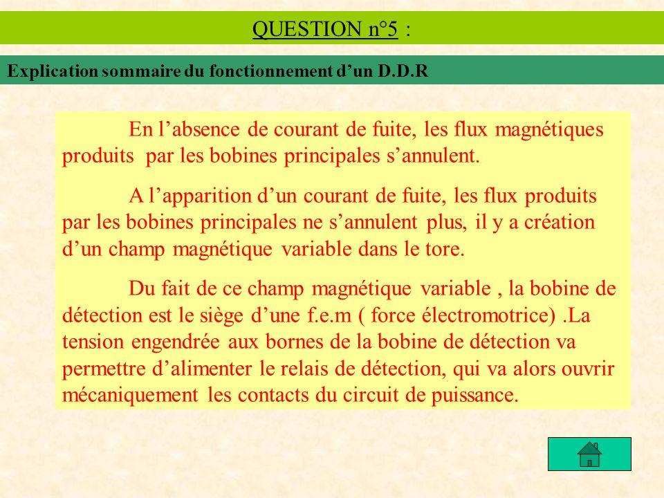 QUESTION n°5 : Explication sommaire du fonctionnement d'un D.D.R.