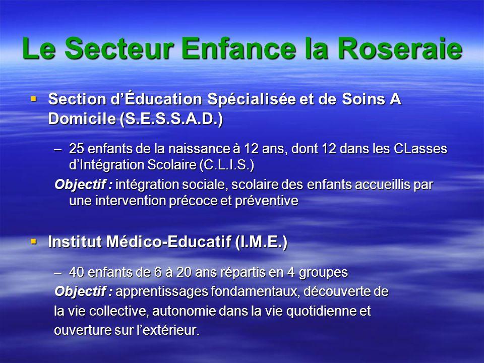 Le Secteur Enfance la Roseraie