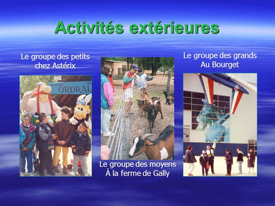 Activités extérieures