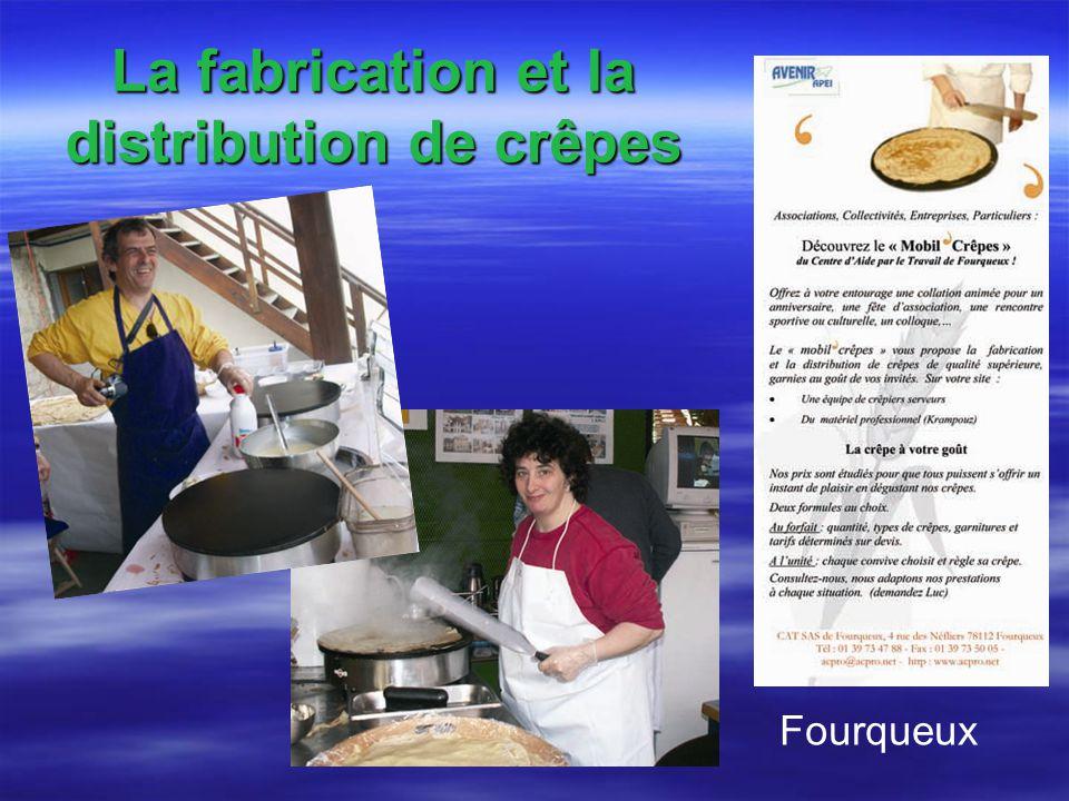 La fabrication et la distribution de crêpes