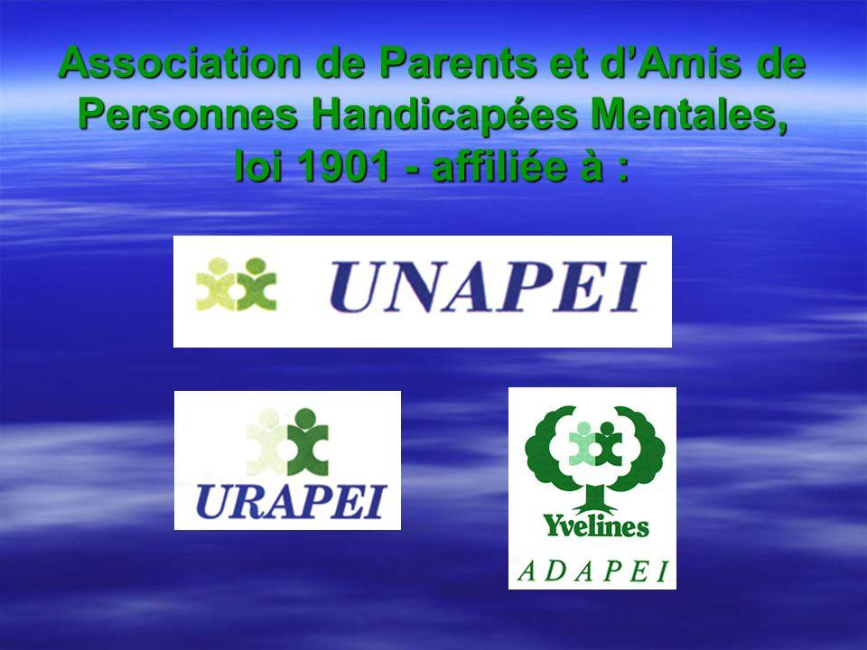 Association de Parents et d'Amis de Personnes Handicapées Mentales, loi 1901 - affiliée à :