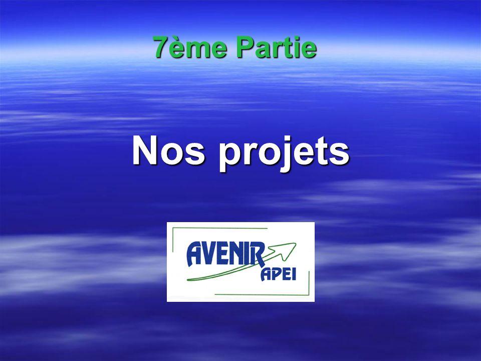 7ème Partie Nos projets