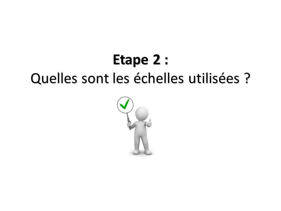 Etape 2 : Quelles sont les échelles utilisées
