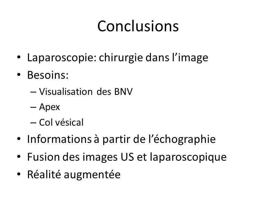 Conclusions Laparoscopie: chirurgie dans l'image Besoins: