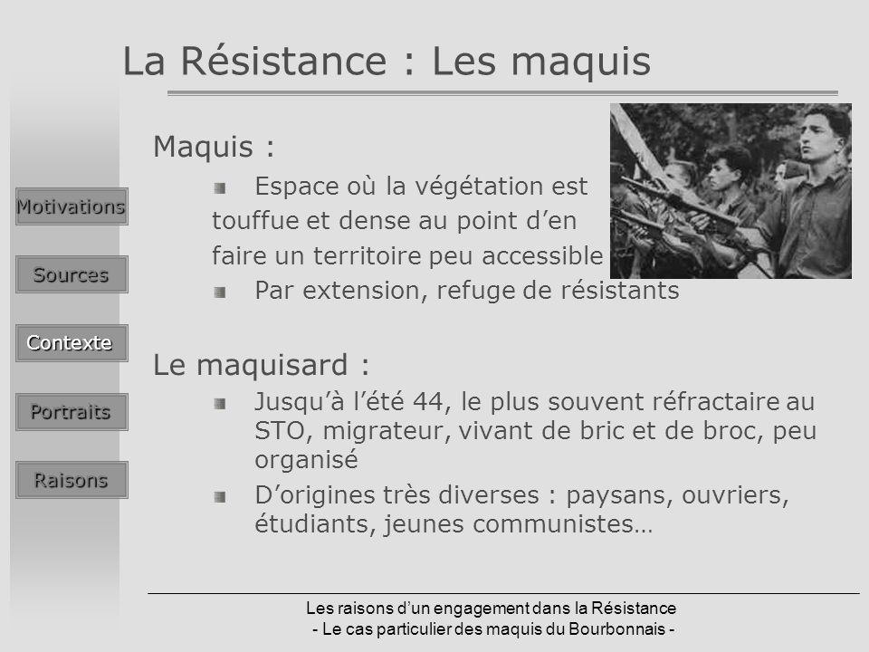 La Résistance : Les maquis