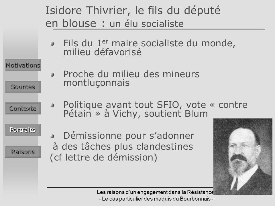 Isidore Thivrier, le fils du député en blouse : un élu socialiste