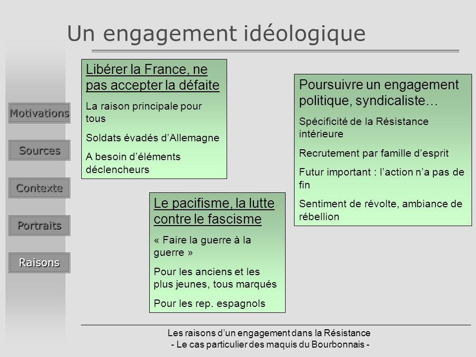 Un engagement idéologique