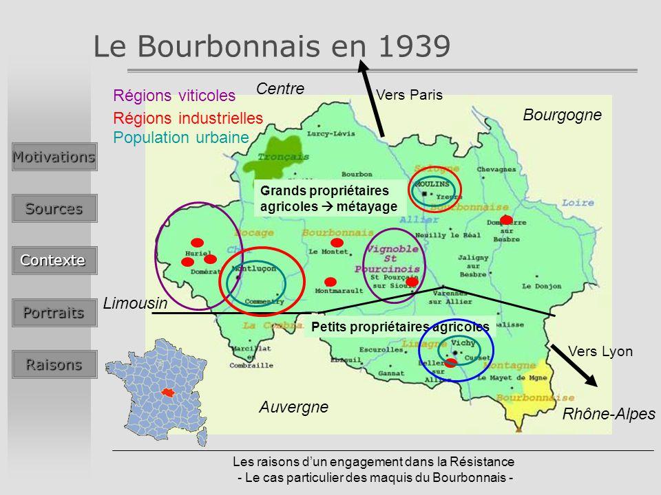 Le Bourbonnais en 1939 Centre Régions viticoles Bourgogne