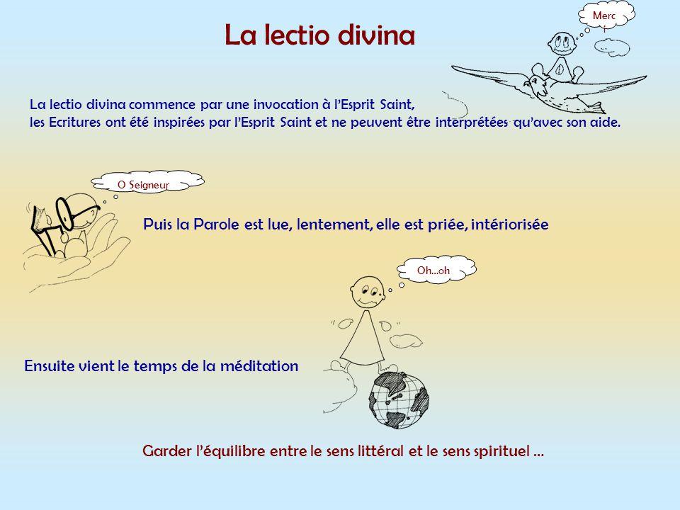 Garder l'équilibre entre le sens littéral et le sens spirituel …