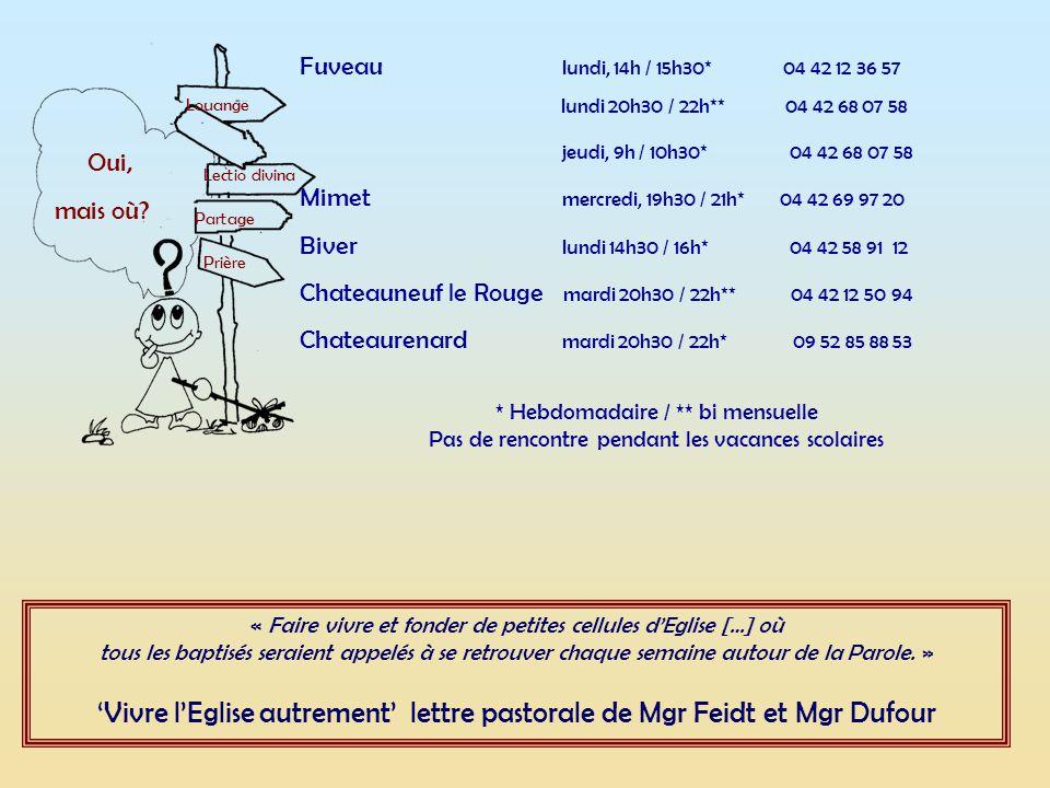 'Vivre l'Eglise autrement' lettre pastorale de Mgr Feidt et Mgr Dufour