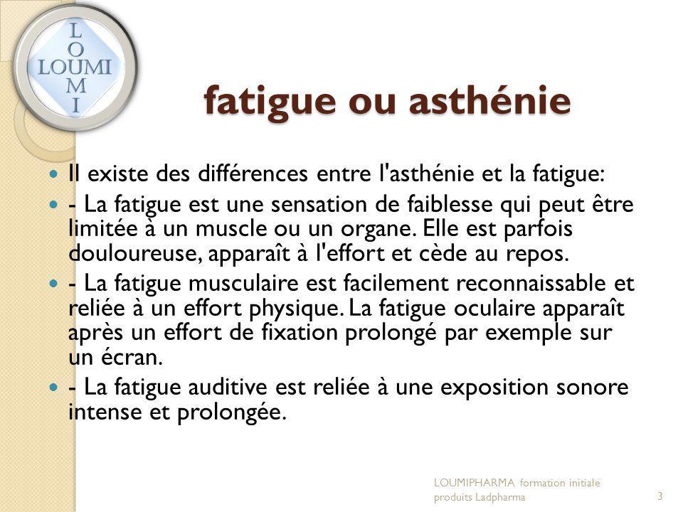 fatigue ou asthénie Il existe des différences entre l asthénie et la fatigue: