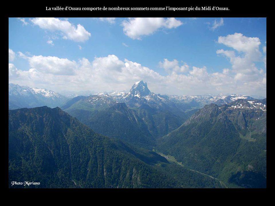 La vallée d'Ossau comporte de nombreux sommets comme l'imposant pic du Midi d'Ossau.