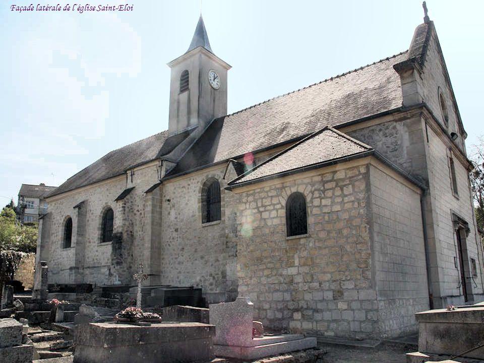 Façade latérale de l'église Saint-Eloi