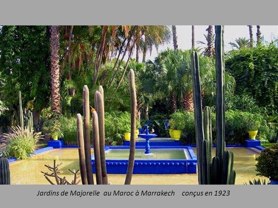 Jardins de Majorelle au Maroc à Marrakech conçus en 1923
