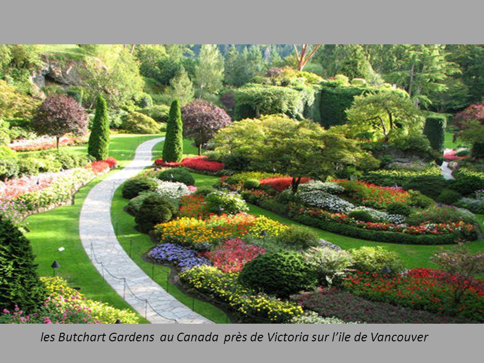 les Butchart Gardens au Canada près de Victoria sur l'ile de Vancouver