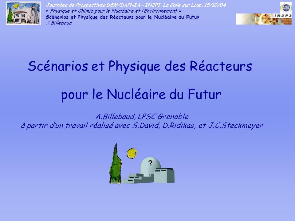 Scénarios et Physique des Réacteurs pour le Nucléaire du Futur