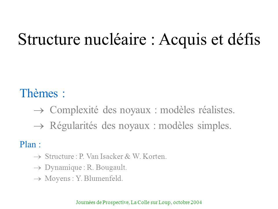 Structure nucléaire : Acquis et défis