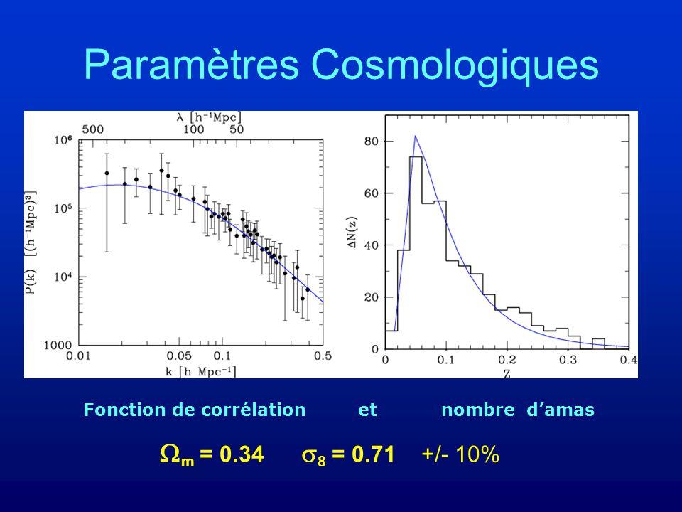 Paramètres Cosmologiques