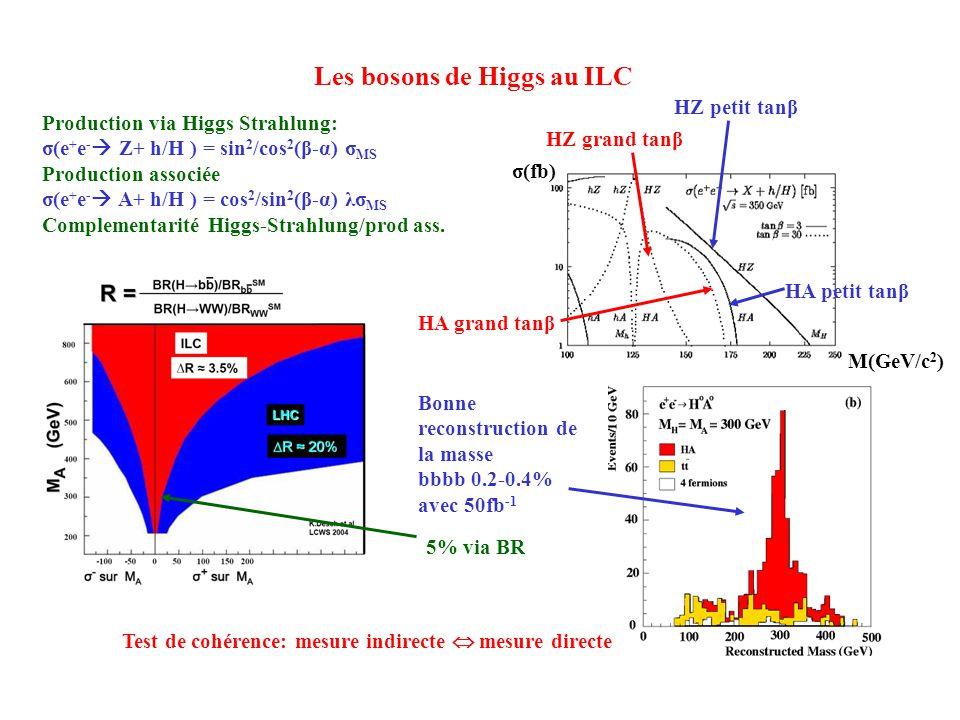Les bosons de Higgs au ILC