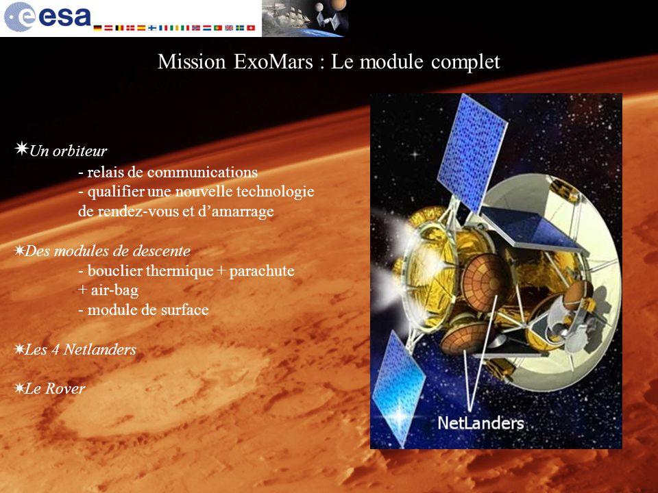 Mission ExoMars : Le module complet