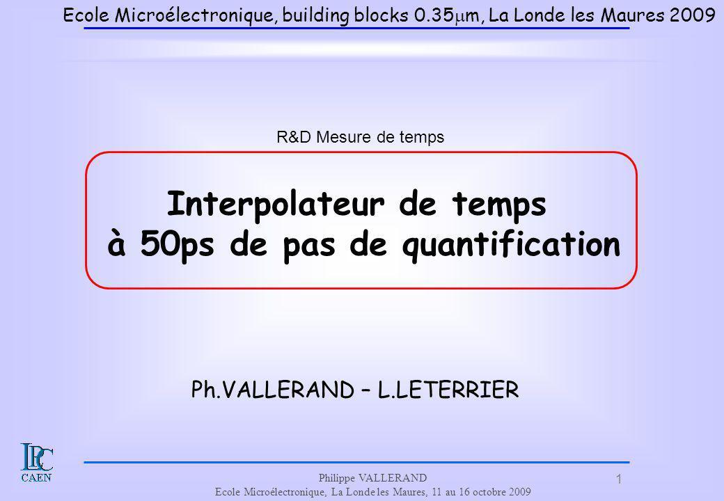 Interpolateur de temps à 50ps de pas de quantification