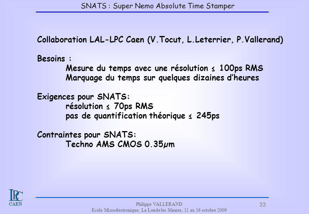 Collaboration LAL-LPC Caen (V.Tocut, L.Leterrier, P.Vallerand)