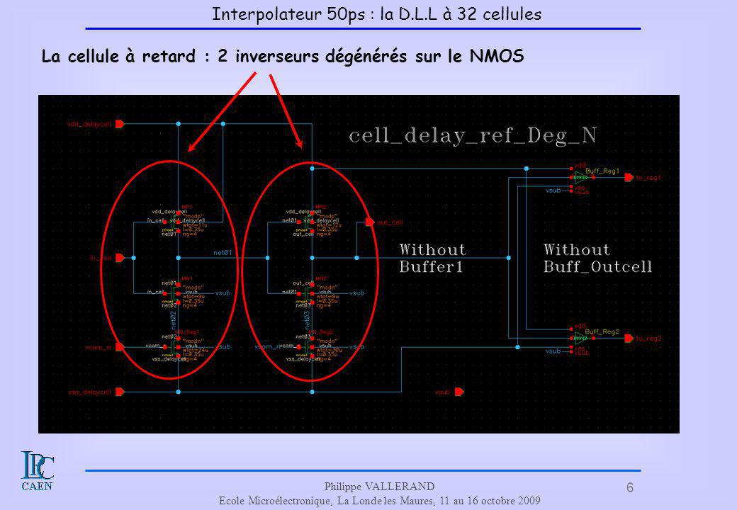 Interpolateur 50ps : la D.L.L à 32 cellules